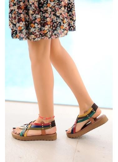 Pembe Potin A305-20 Kadın sandalet Renkli
